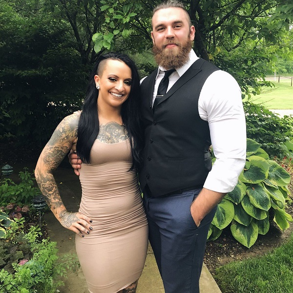 Ruby Riott with her boyfriend Jake Something