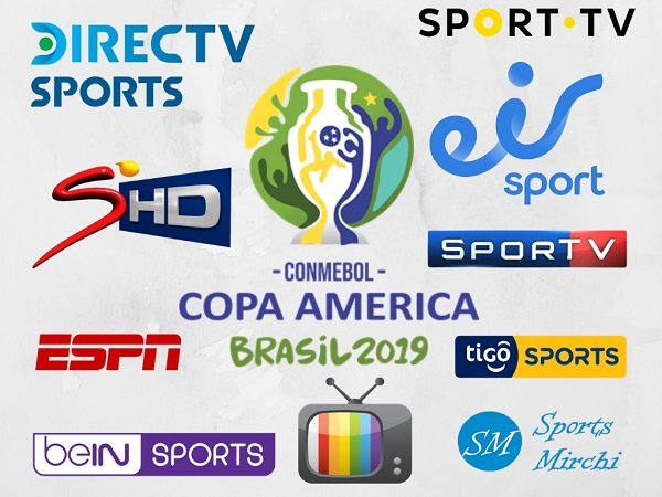 Copa America 2019 Broadcasting networks, tv channels.