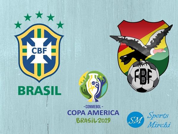 Brazil vs Bolivia 2019 Copa America football match