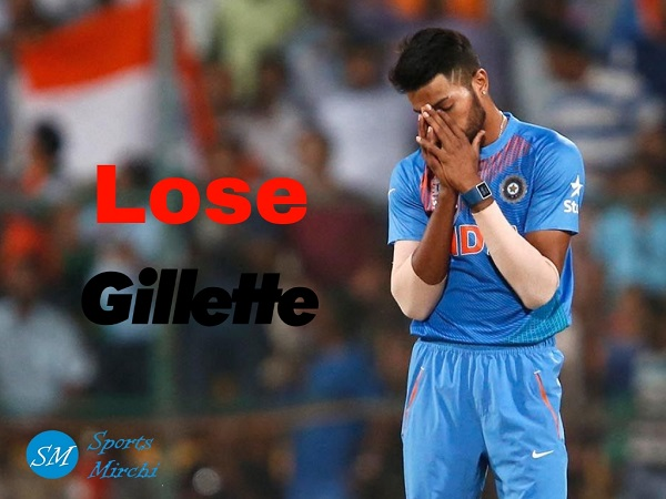 Gillette ends sponsorship with Hardik Pandya