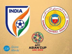 India vs Bahrain 2019 Asian Cup football match