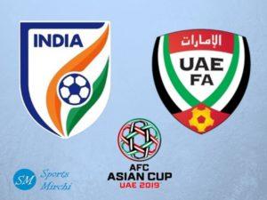 India vs UAE 2019 Asian Cup football match