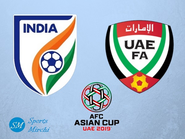 India vs UAE 2019 Asian Cup football match