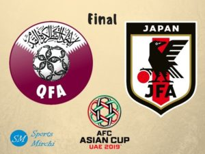 Qatar vs Japan 2019 Asian Cup final on 1 February