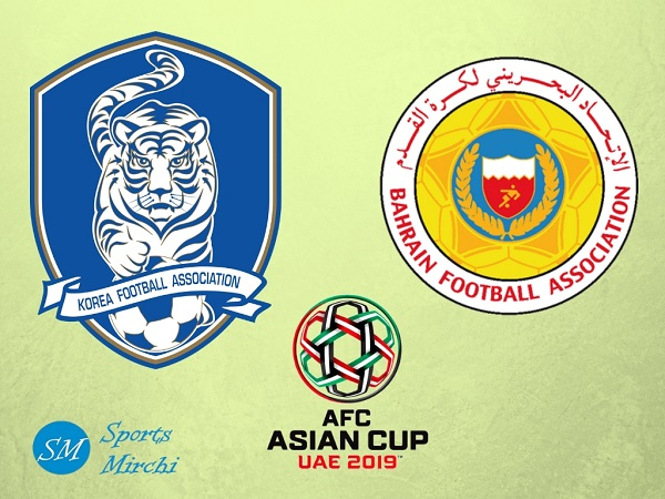South Korea vs Bahrain 2019 Asian Cup match