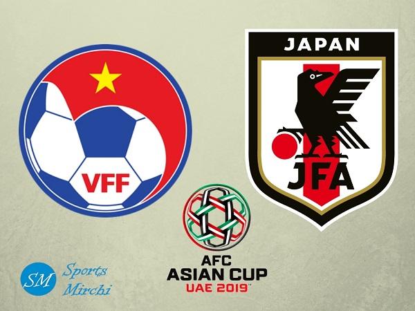 Vietnam vs Japan quarterfinal match of 2019 Asian Cup football