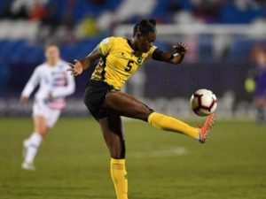 Konya Plummer from Jamaica Football team
