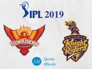 SRH vs KKR 2019 IPL Match Live streaming