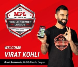 Virat Kohli becomes brand ambassador of Mobile Premier League at 12 crore INR deal
