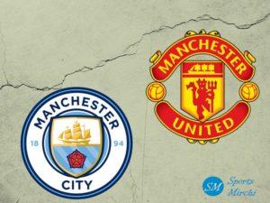 Manchester City vs Manchester United logo