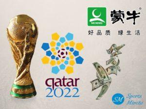 Mengniu dairy sponsoring 2022 FIFA World Cup in Qatar