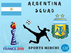 Argentina Women's Football team for 2019 world cup
