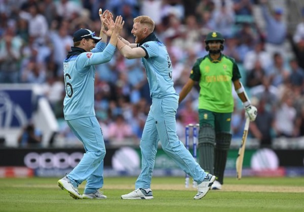 Ben Stokes was awarded player of the match against South Africa cwc19