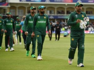 Pakistan cricket team all-out for 105 score against West Indies in 2019 world cup.