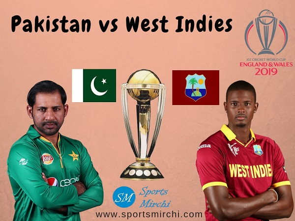 Pakistan vs West Indies 2019 cricket world cup match photo.