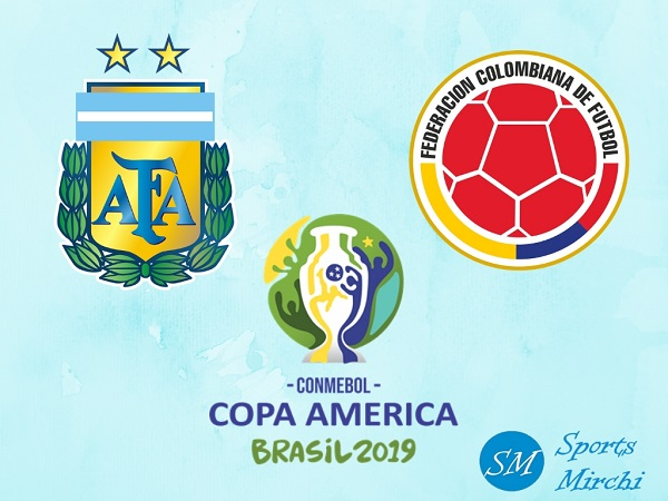 Argentina vs Colombia Copa America 2019 football match.
