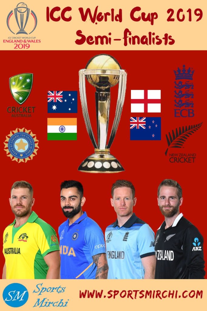 ICC World Cup 2019 Semi-Final Teams