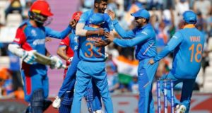 Shami takes hat-trick as India escape Afghanistan by 11 runs in ICC world cup 2019
