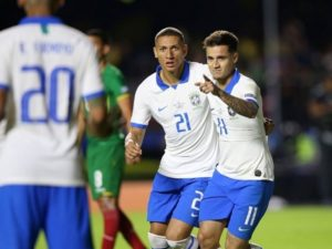 Philippe Coutinho scored two goals against Bolivia in 2019 Copa America.
