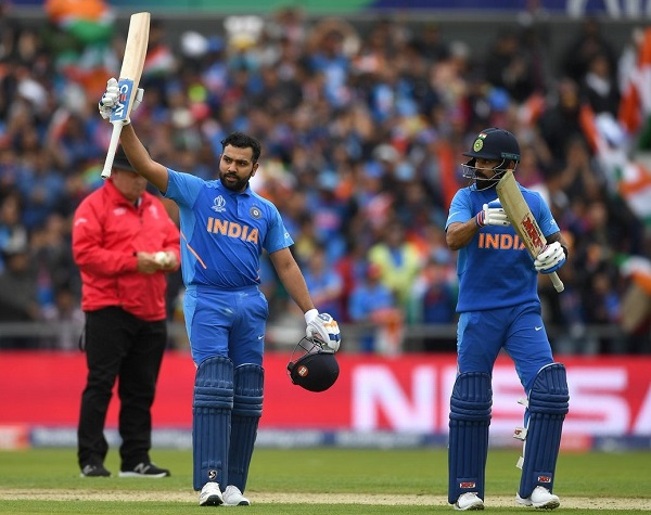 Rohit Sharma hit 140 runs against Pakistan in 2019 ICC world cup
