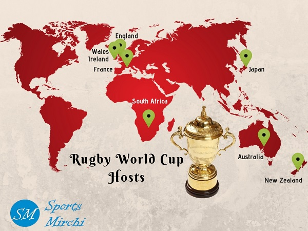 Rugby World Cup host countries.