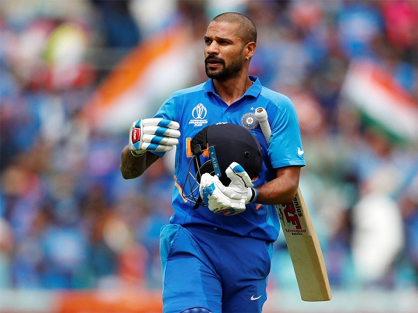 Shikhar Dhawan hit century against Australia in 2019 world cup.