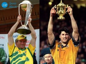 Australia won 1999 cricket world cup and rugby world cup