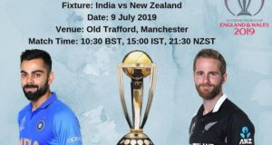 World Cup 2019 1st Semi-Final: India vs New Zealand Schedule, Time, Venue