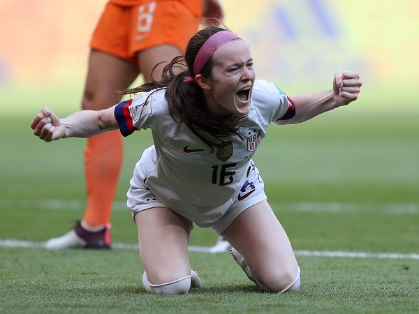 Rose Lavelle scored in 2019 FIFA women's world cup final