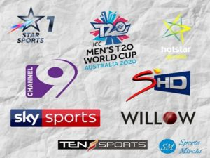 Twenty20 World Cup 2020 live coverage, tv channels list
