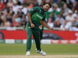 Wahab Riaz in 2019 cricket world cup