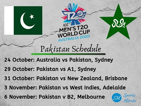 Pakistan team full schedule twenty20 world cup 2020 photo
