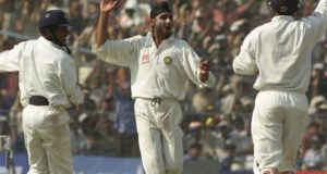 Who took first test cricket hat-trick for India?