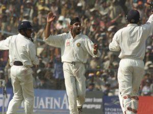 Harbhajan Singh first Indian bowler to take hat-trick in test cricket