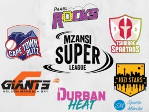 Mzansi Super League 6 teams logo