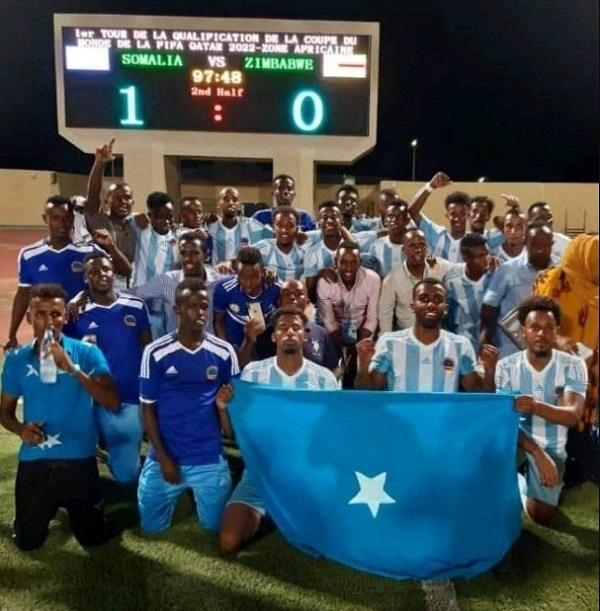 Somalia beat Zimbabwe to win first ever football world cup qualifier match