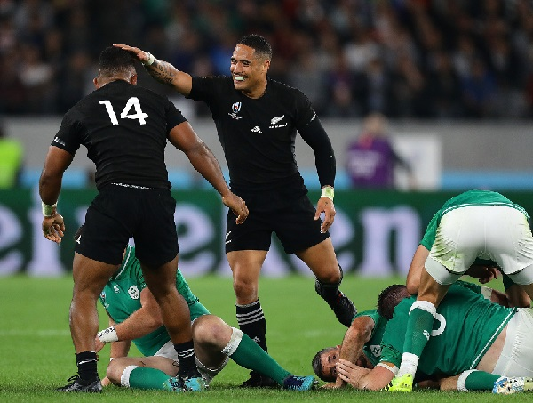 New Zealand beat Ireland in 2019 rugby world cup quarterfinal