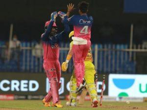 Rajasthan Royals beat Chennai Super Kings by 16 runs at Sharjah