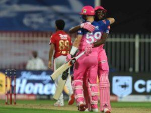 Rajasthan Royals beat Kings XI Punjab in IPL 2020 at Sharjah while chasing historic 224 runs