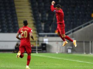 Ronaldo scored 100 international goal against Sweden