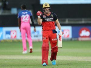AB De Villiers scored 55 runs against Rajasthan Royals in IPL 2020
