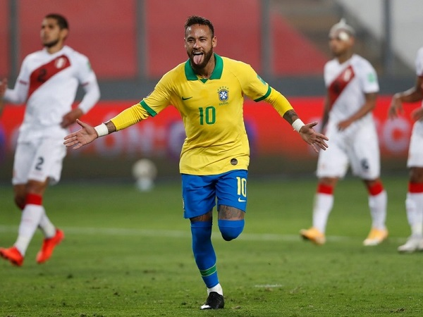 Brazil's Neymar scored 3 goals against Peru in 2022 world cup qualifiers