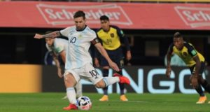 Messi scored as Argentina beat Ecuador in WCQ 2022 opening game