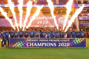 Mumbai Indians won 2020 IPL