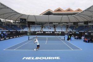 Empty stadium at Australian Open 2021