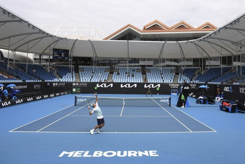 Empty stadium at Australian Open 2021