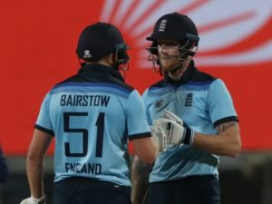 Bairstow, Stokes won 2nd ODI for England against India chasing 337