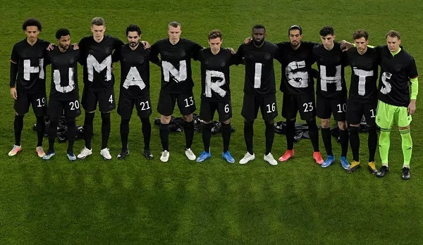 Human rights protest by Germany football team
