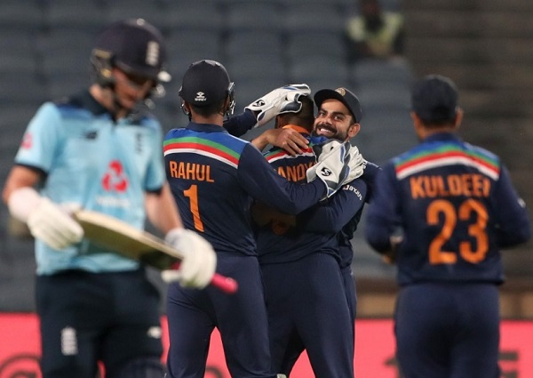 India beat England in first ODI at Pune in March 2021
