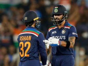 Ishan Kishan, Virat Kohli hit fifties to guide India win 2nd T20 against England in Ahmedabad